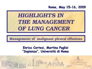 Rome, May 15-16, 2009
