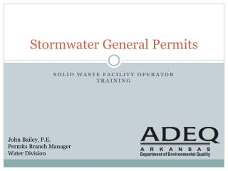 Stormwater General Permits