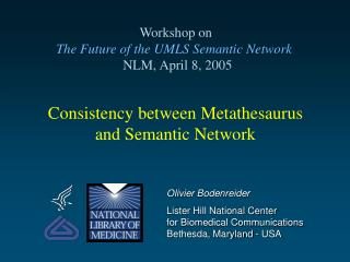Consistency between Metathesaurus and Semantic Network