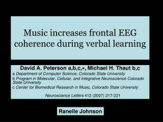 Music increases frontal EEG coherence during verbal learning
