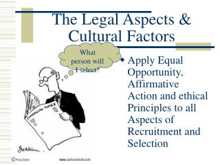 The Legal Aspects & Cultural Factors