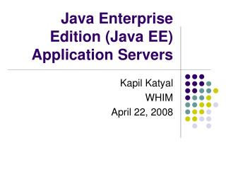 Java Enterprise Edition (Java EE) Application Servers