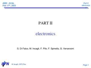PART II electronics