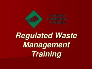 Regulated Waste Management Training