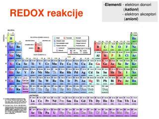 REDOX reakcije