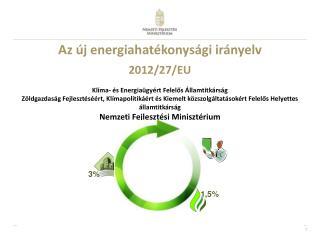 Az új energiahatékonysági irányelv 2012/27/EU Klíma- és Energiaügyért Felelős Államtitkárság