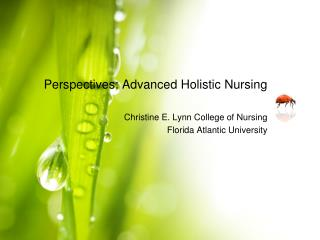 Perspectives: Advanced Holistic Nursing