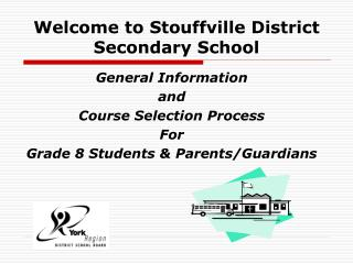 Welcome to Stouffville District   Secondary School