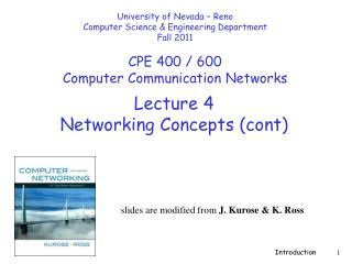 Lecture  4 Networking Concepts ( cont )