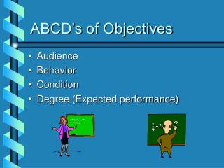 ABCD's of Objectives
