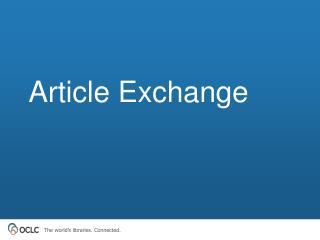 Article Exchange