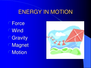 Forces and Motion Definitions Unit F