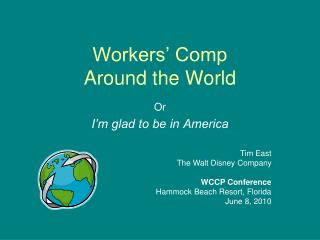 Workers' Comp Around the World