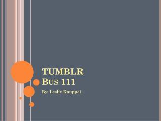 t umblr Bus 111