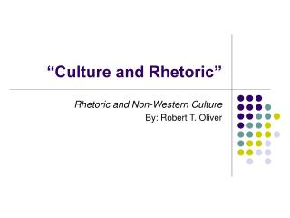 """Culture and Rhetoric"""