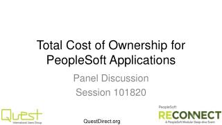 Total Cost of Ownership for PeopleSoft Applications