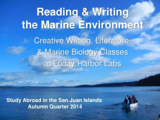 Reading & Writing  the Marine Environment