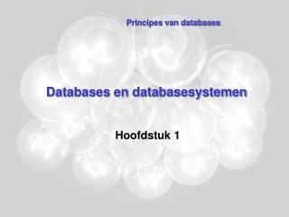 Databases en databasesystemen