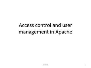 Access control and user management in Apache