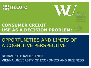 Bernadette  Kamleitner  Vienna  University of Economics and  Business