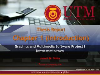 Thesis  Report Chapter 1 (Introduction)