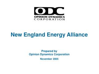 New England Energy Alliance Prepared by Opinion Dynamics Corporation November 2005