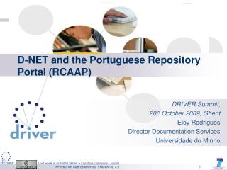 D-NET and the Portuguese Repository Portal (RCAAP)