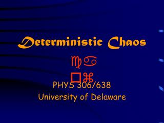 Deterministic Chaos