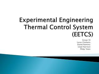 Experimental Engineering Thermal Control System (EETCS)