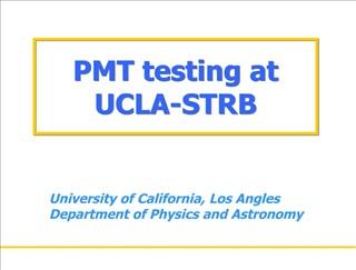 PMT testing at UCLA-STRB