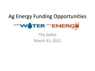 Ag Energy Funding Opportunities