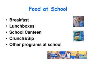 Food at School
