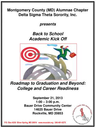 Montgomery County (MD) Alumnae Chapter Delta Sigma Theta Sorority, Inc. presents Back to School