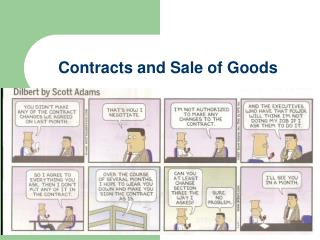 Contracts and Sale of Goods