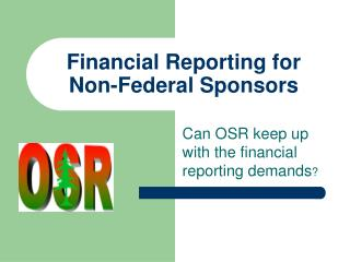 Financial Reporting for Non-Federal Sponsors