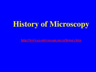 History of Microscopy http://www.az-microscope.on.ca/history.htm