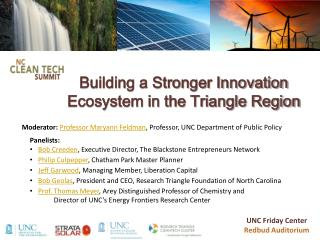 Building a Stronger Innovation Ecosystem in the Triangle Region