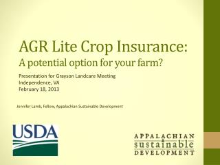 AGR Lite Crop Insurance:  A potential option for your farm?