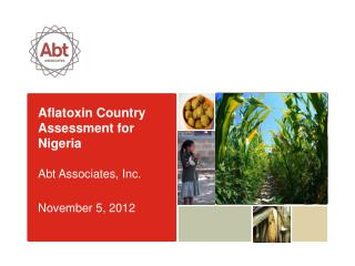 Aflatoxin Country Assessment for Nigeria Abt Associates, Inc. November 5, 2012