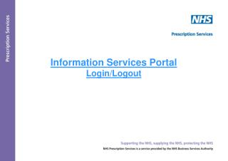 Information Services Portal  Login/Logout