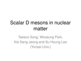 Scalar D mesons in nuclear matter
