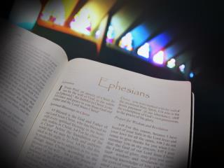 Ephesians outlined:     Chapters 1-3	=	Prescribed beliefs     Chapters 4-6	=	Prescribed behaviors