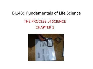 BI143:  Fundamentals of Life Science