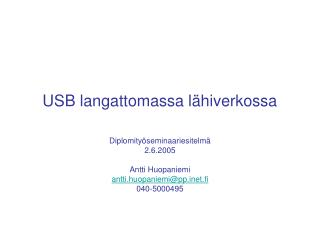 USB langattomassa l�hiverkossa