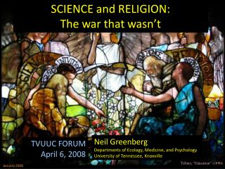 SCIENCE and RELIGION: The war that wasn't