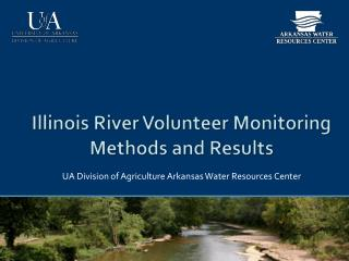 Illinois River Volunteer Monitoring Methods and Results
