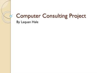 Computer Consulting Project