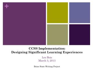 Designing significant learning experiences using inquiry