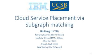 Cloud Service Placement via Subgraph matching