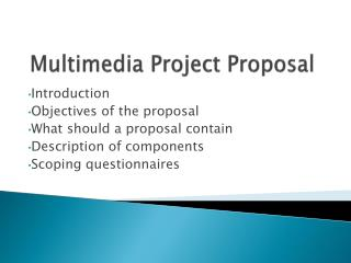 Multimedia  Project  Proposal
